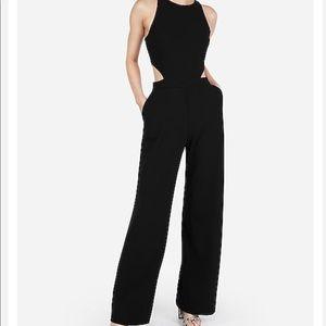 Express Side Cut-out Black Jumpsuit XXS